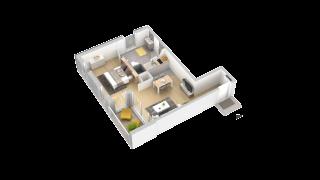 appartement 102 de type T1