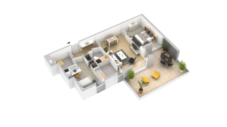 appartement 105 de type T3