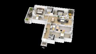 appartement 134 de type T5