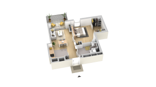 appartement A904 de type T2