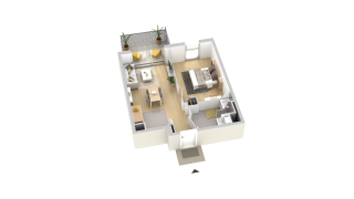 appartement A201 de type T2