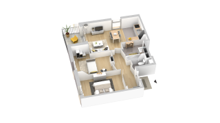 appartement A206 de type T3