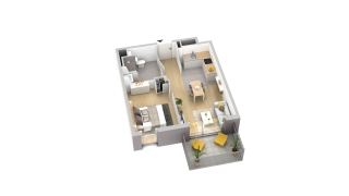 appartement A304 de type T2