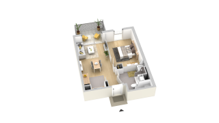 appartement A402 de type T2