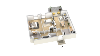 appartement B201 de type T3