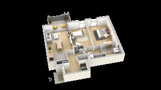appartement B202 de type T3