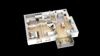 appartement B205 de type T3