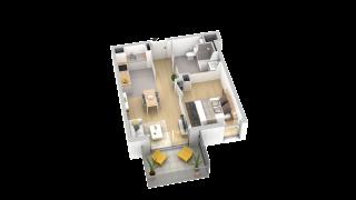 appartement B304 de type T2