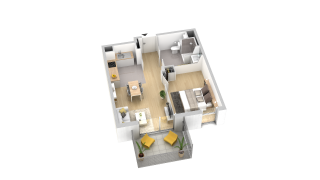 appartement B306 de type T2