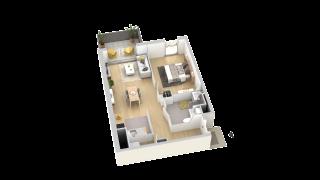 appartement B308 de type T2