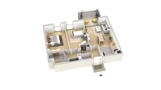 appartement B401 de type T3