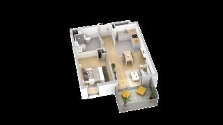 appartement B405 de type T2