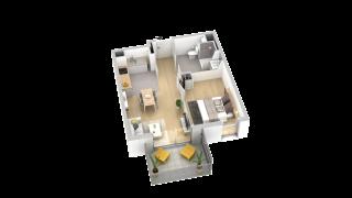 appartement B406 de type T2