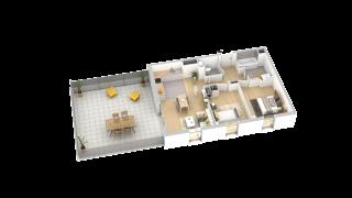 appartement B407 de type T3